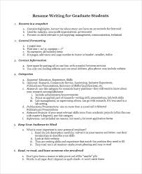 9 College Graduate Resumes Sample Templates