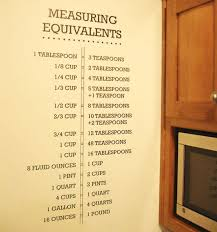 turn your kitchen notes into something creative and fancy have your measuring equivalents notes plastered on the wall with these kitchen decals