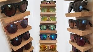 sunglass rack organizer diy superholly