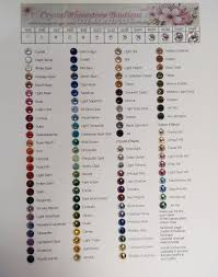 Swarovski Ab Color Chart Swarovski Rhinestones Color Chart Rhinestone Crafts