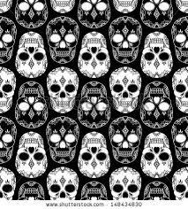 Skull Pattern Magnificent Vector Pattern Skulls Stock Vector Royalty Free 48