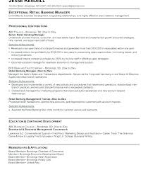 Banking Resume Objective Resume Sample Collection