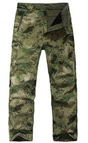 Lanbaosi Mens Waterproof Softshell Hunting Fleece Outdoor Pants Camouflage1 Size Us L Tag Xl