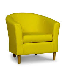 faux leather chair. Free Next Day Delivery Available Yellow Faux Leather Tub Chair 45 C