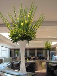 office floral arrangements. A Corporate Office Floral Arrangement With Forsythia And Gladioli #contractflowers #florist #floralarrangement # Arrangements T