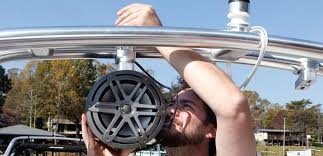 tips for installing tower speakers on a boat tightening speaker clamps
