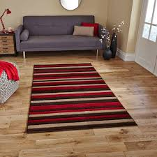 matrix mt22 brown red striped rug by think rugs