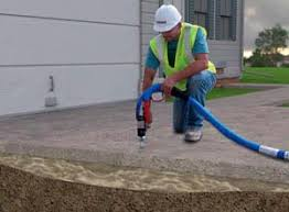 Raising concrete patio Stamped Concrete Causes Dangers Of Concrete Settlement American Foundation And Basement Repair Concrete Raising Lifting Leveling And Repair