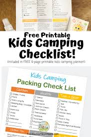 Baby Stuff Checklist Printable Baby Camping Checklist And Planner The Crazy