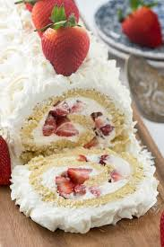 Strawberry Shortcake Cake Roll Crazy For Crust