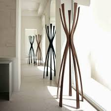 modern coat stand.  Coat Creative Wooden Coat Stand With Streamlined Design Inside Modern Coat Stand D