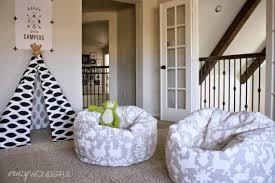 Otomi stencil diy stenciled bean bag chairs playroom 530x353