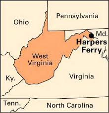 Image result for Harpers Ferry, Virginia 1859 map