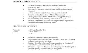 Emt Resume Examples Sample Entry Level Emt Resume Emt Sample