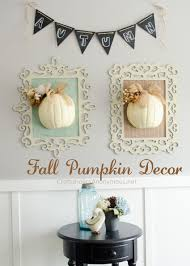 diy fall framed pumpkin decor use chalk paint for pretty distressed wood frames