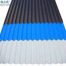 lightweight colored pvc roof sheet with asa type 860