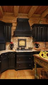 eye catching rustic kitchen cabinets. Never Thought I Would Like Black Cabinets, This Has Me Thinking.Log Home In Valle Crucis Featuring Cabinets With Rub Through Eye Catching Rustic Kitchen