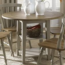 liberty furniture al fresco driftwood wood round extending dining table
