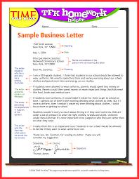 Business Letter Model Good Resume Format