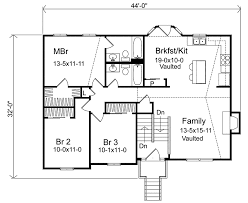 Oaklawn Split Level Home Plan D    House Plans and MoreArts  amp  Crafts House Plan First Floor   D    House Plans and More