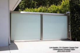 modern courtyard gates in stainless steel frosted glass panes contemporary exterior los angeles