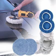 <b>8Pcs</b> 9 10 Inch <b>Car Microfiber</b> Polisher Bonnets Polishing Pads Wax ...