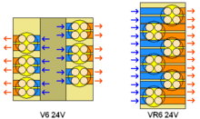 vr6 engine schematic diagram showing the differences in port lengths between a v6 and vr6 using 24 valves