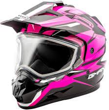 Gmax Womens Gm11 Gm 11 Vertical Snowmobile Helmet With Dual Pane Shield