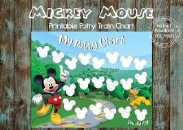 Printable Potty Training Chart Mickey Mouse Potty Training Chart Potty Reward Chart Mickey Mouse Potty Train Chart Mickey Potty Time