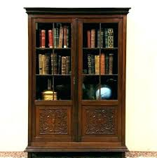 cherry bookcase glass doors bookcases cherry bookcase glass doors dark bunch ideas