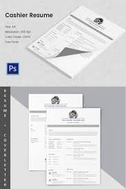 Cashier Resume Description Cashier Resume Template 100 Free Word Excel PDF PSD Format 73