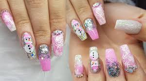 Acrylic Nails | Pink Nails | Not Polish | Stamping | 3D Nail Art ...