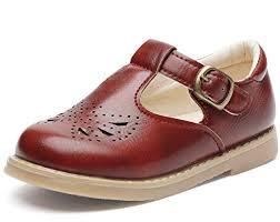 Dadawen Girl S T Strap Mary Jane School Uniform Shoes