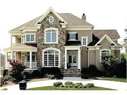 houses with stone accents.  With Stone Accents House Facade Home Exterior Houses With Painted Brick On Houses With Stone Accents O