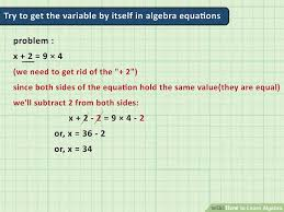 how to learn algebra pictures wikihow image titled learn algebra step 8