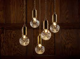 hanging lamp clear crystal bulb chandelier 2