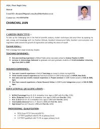 5 Bio Data Format For Teacher Job Week Notice Letter