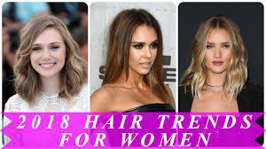 2018 hair trends for women - YouTube