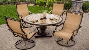 Sling patio chairs swivel