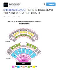 Bts Seating Chart Bts In Chicago Trbinchicago Rosemont Theatres Seating