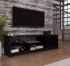 Tv Cabinet Design For Small Space Bestar Small Space 53 5 Inch Tv Stand In Dark Chocolate
