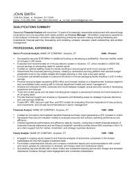 resume of financial analyst 24 best finance resume sample templates wisestep