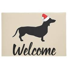 novelty funny dachshund with hat wele door mats quirky xmas home decor gifts puppy dogs