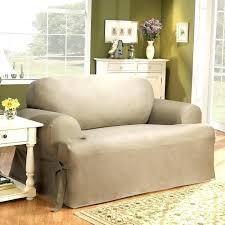 sure fit t cushion sofa slipcover sure fit sofa slipcover cotton duck t cushion sofa slipcover sure fit
