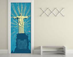 christ the redeemer door wall sticker contact paper