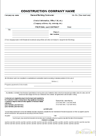 Construction Form Templates Construction Contract Template Oninstall 13