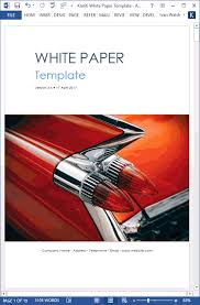 White Paper Templates White Paper Writing Tips Templates Forms Checklists For