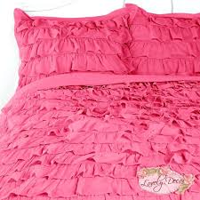 ruffled duvet cover sets duvet covers hot pink waterfall ruffle bedding set waterfall
