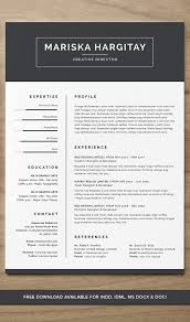 Resume Free Classy High End FREE Resume CV For Word INDD On Behance