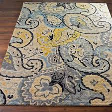 excellent yellow and blue paisley rug accent farmhouse rugs inside area pertaining to blue and yellow area rugs popular